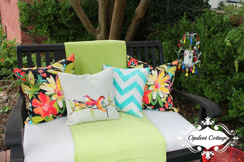 Opulent Cottage Outdoor Pillows 2 for One Room Challenge