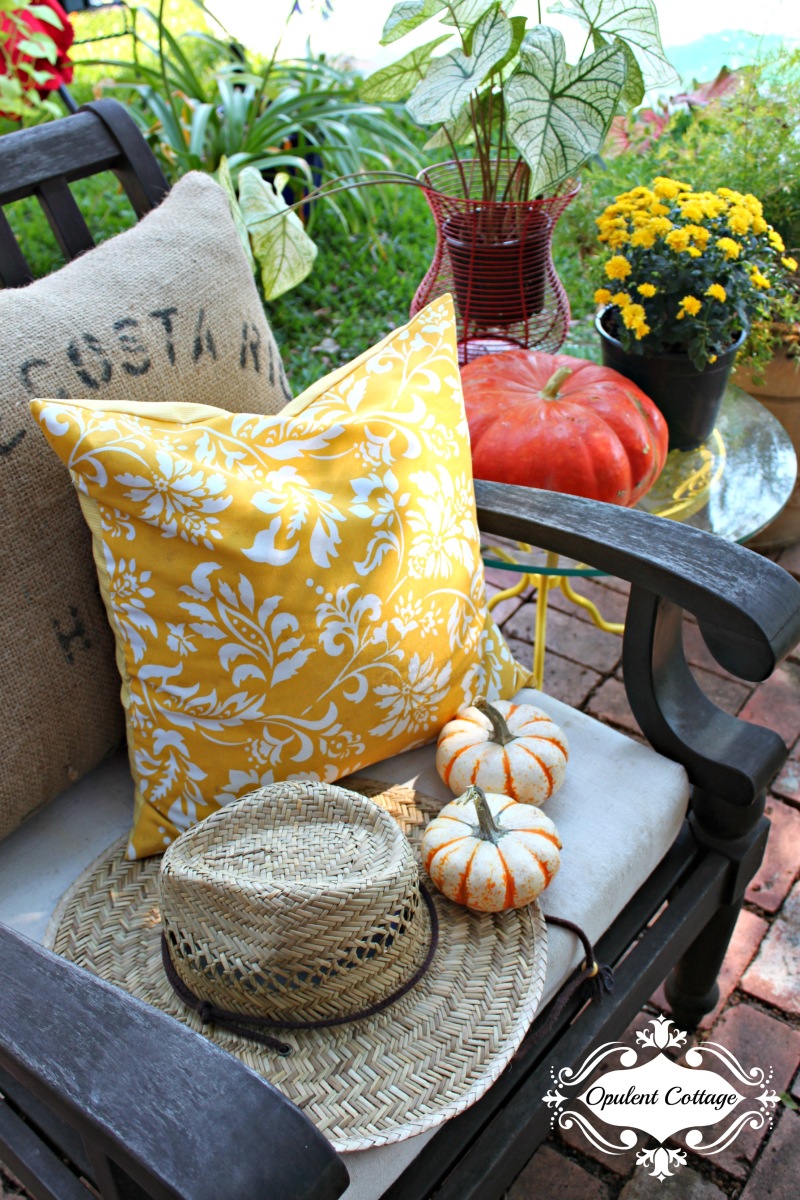 Opulent Cottage Patio Sneak Peek for Texas Bloggers Fall Tour