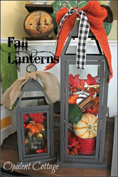 Opulent Cottage Fall Lanterns