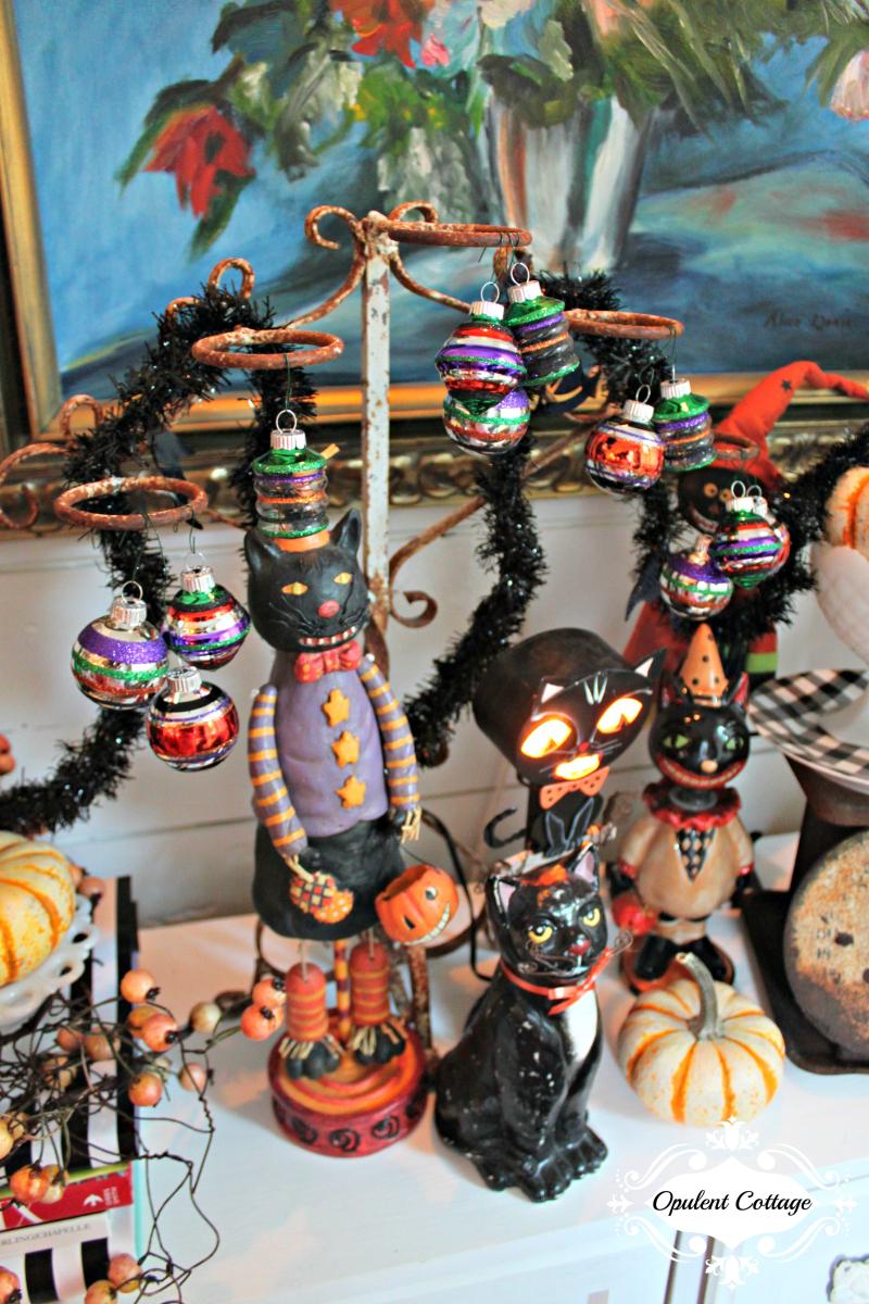 Opulent Cottage Halloween Kitties