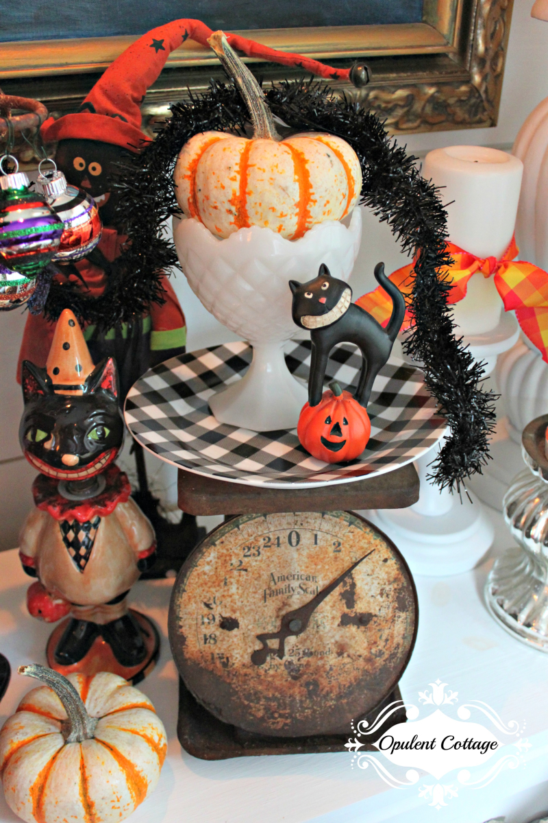 Opulent Cottage Vintage Halloween Kitties