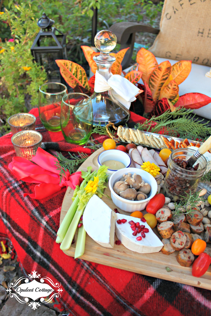Opulent Cottage Holiday Charcuterie Vignette