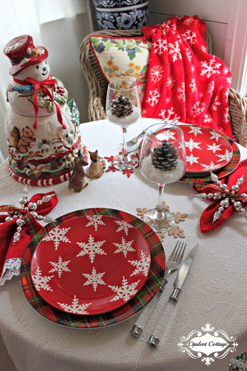 Opulent Cottage Snow Day Tablescape