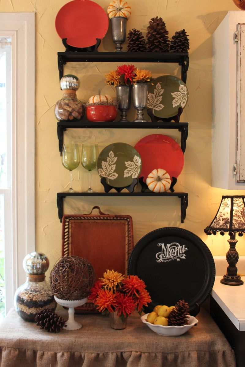 Opulent Cottage Fall Kitchen Vignette