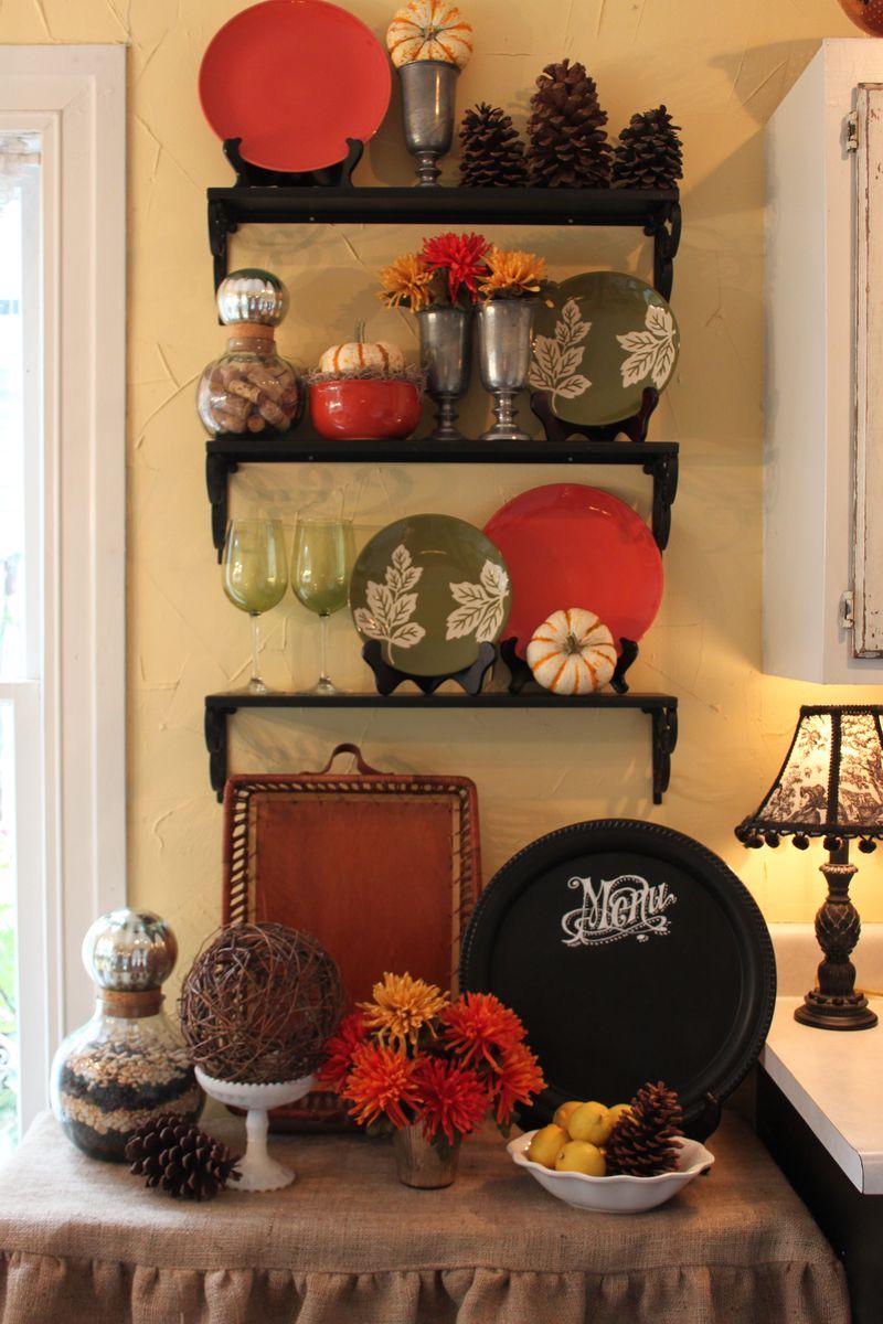 Opulent Cottage Fall Kitchen Vignette