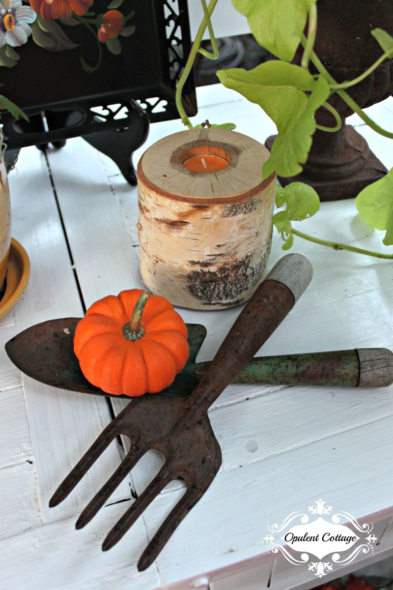 Opulent Cottage Fall Home Tour Birch Tea Light Candle