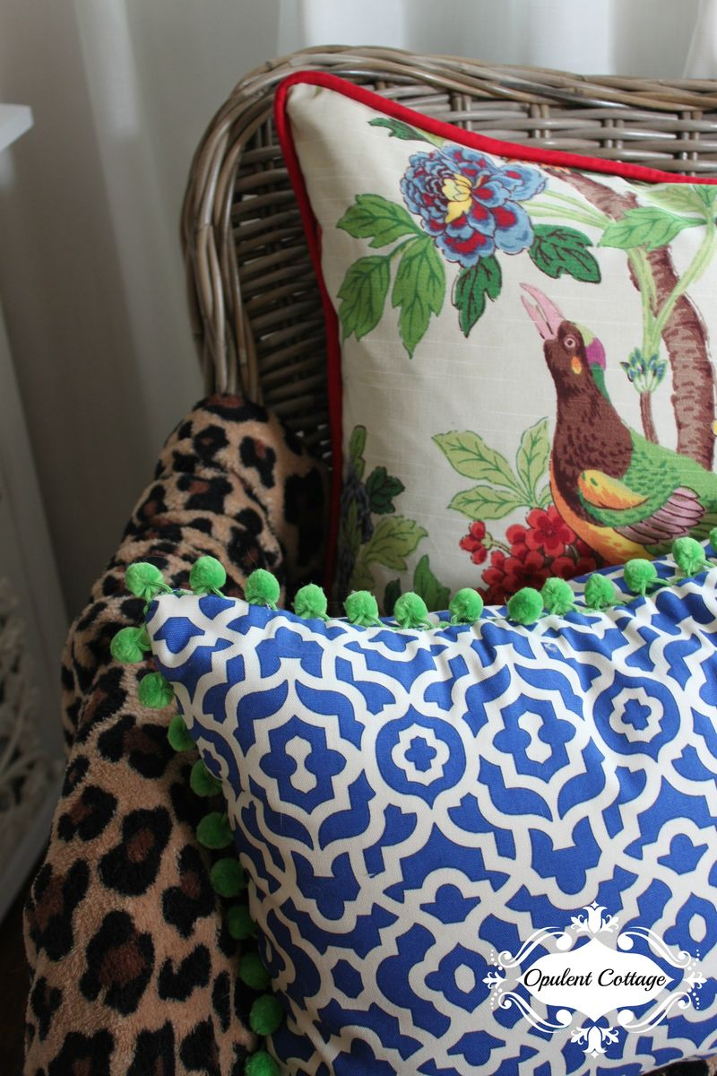 Opulent Cottage Pillows for One Room Challenge