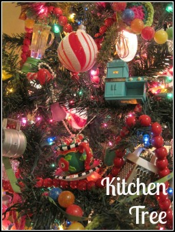 Opulent Cottage Kitchen Christmas Tree