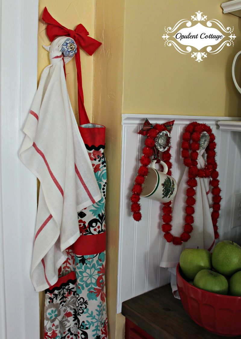 Opulent Cottage Christmas Kitchen Apron 2015
