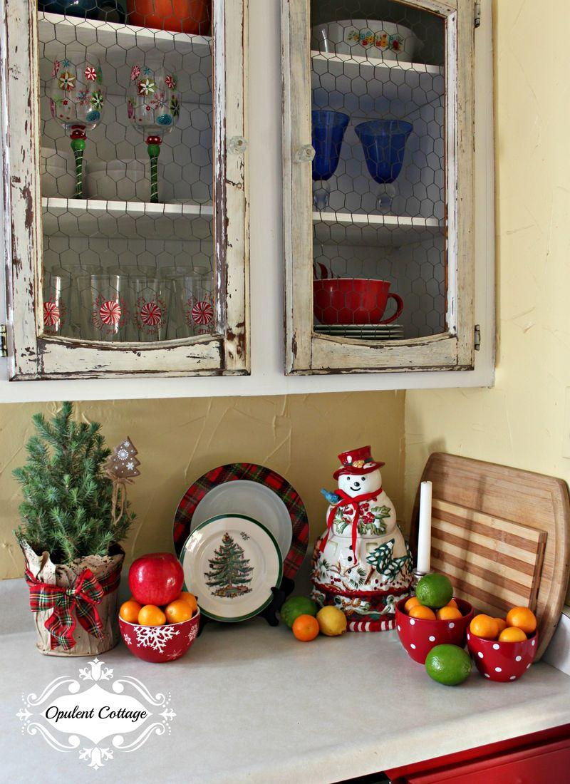 Opulent Cottage Christmas Kitchen Fruit Display 2015