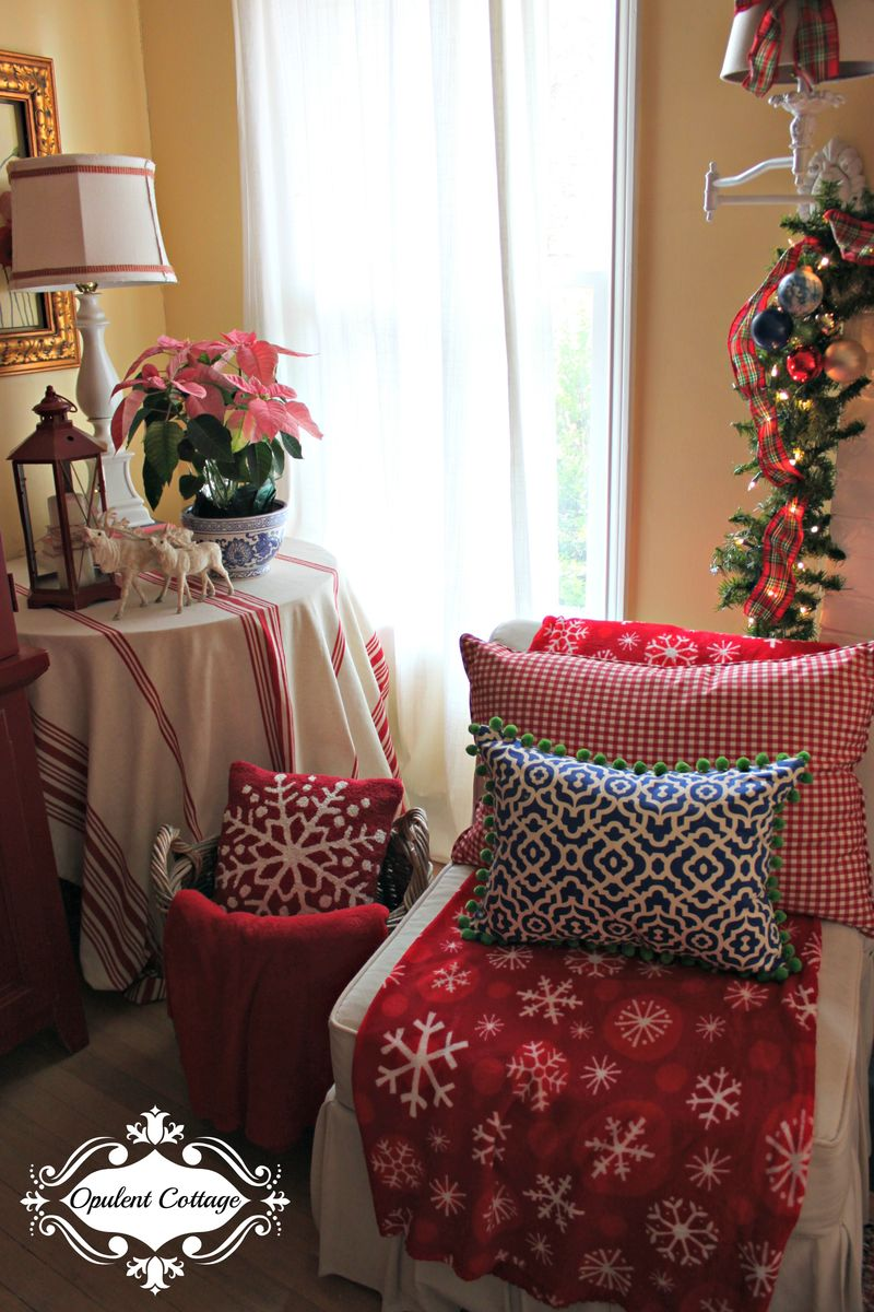 Opulent Cottage Christmas Slipper Chairs
