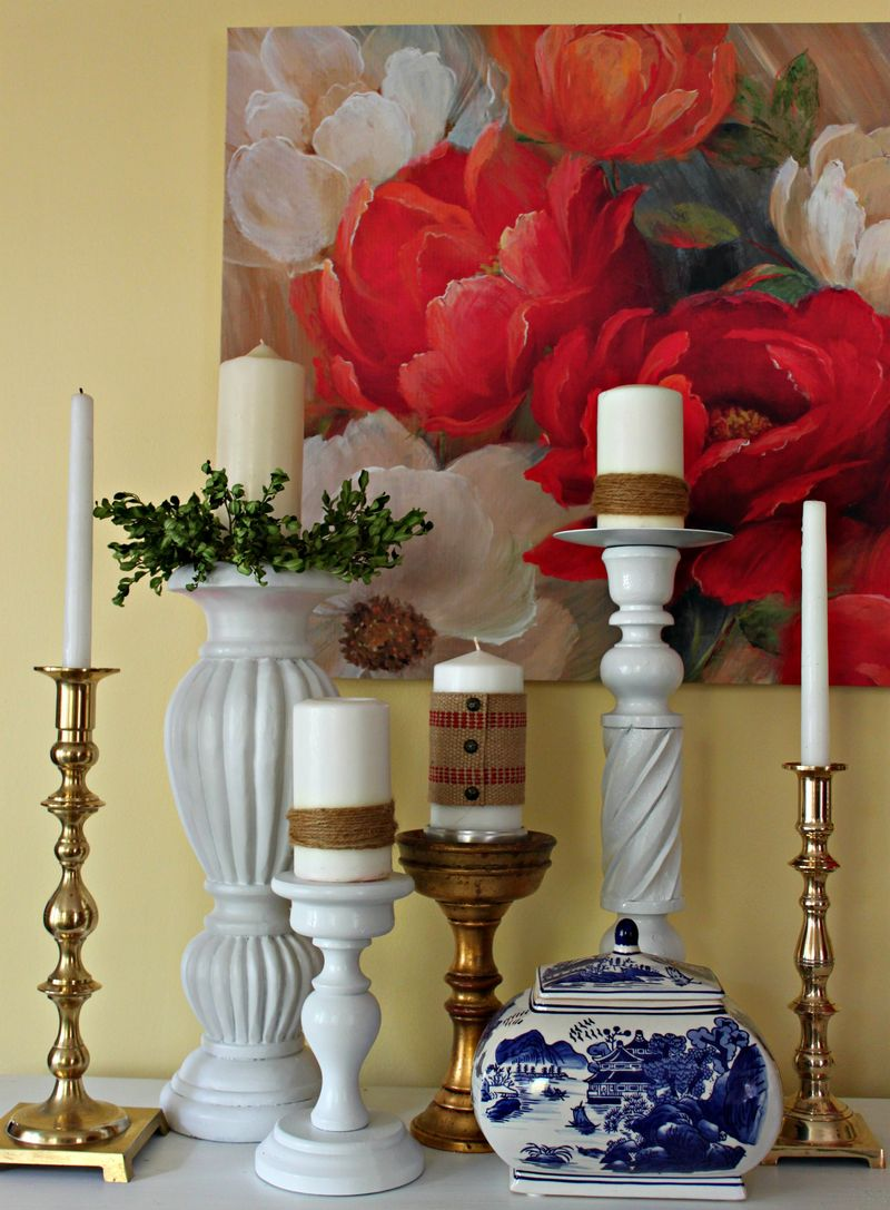 Opulent Cottage, Ginger Jars, Candlesticks and Roses