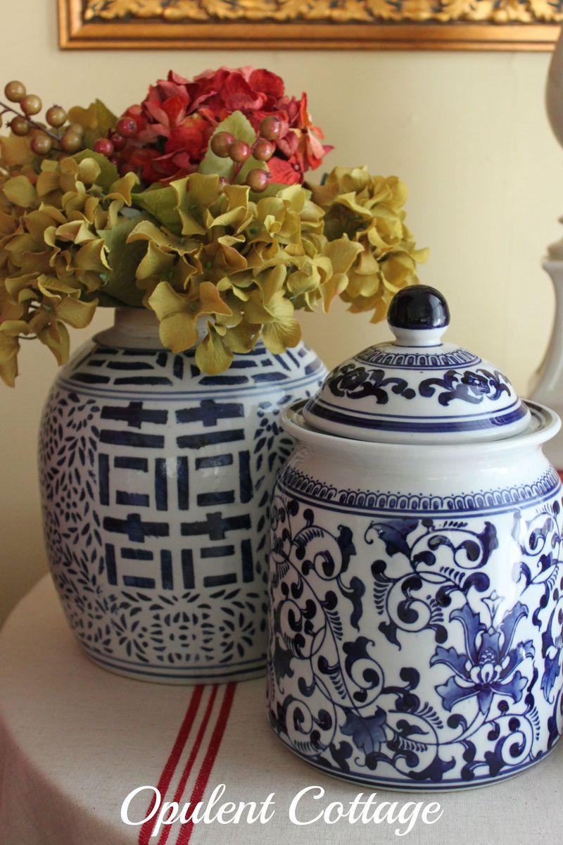Opulent Cottage Fall Ginger Jars
