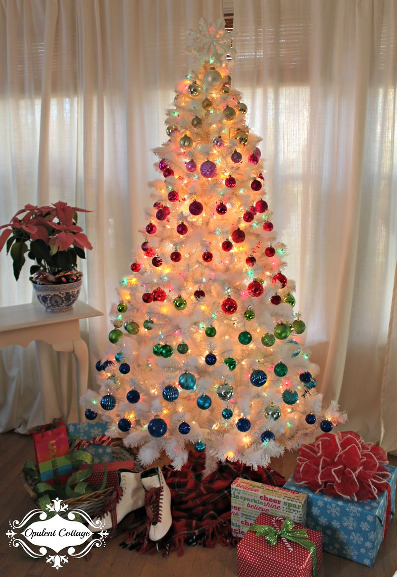 Opulent Cottage Ombre Christmas Tree 2015