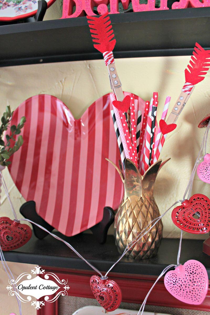 Opulent Cottage Valentine Heart Plates