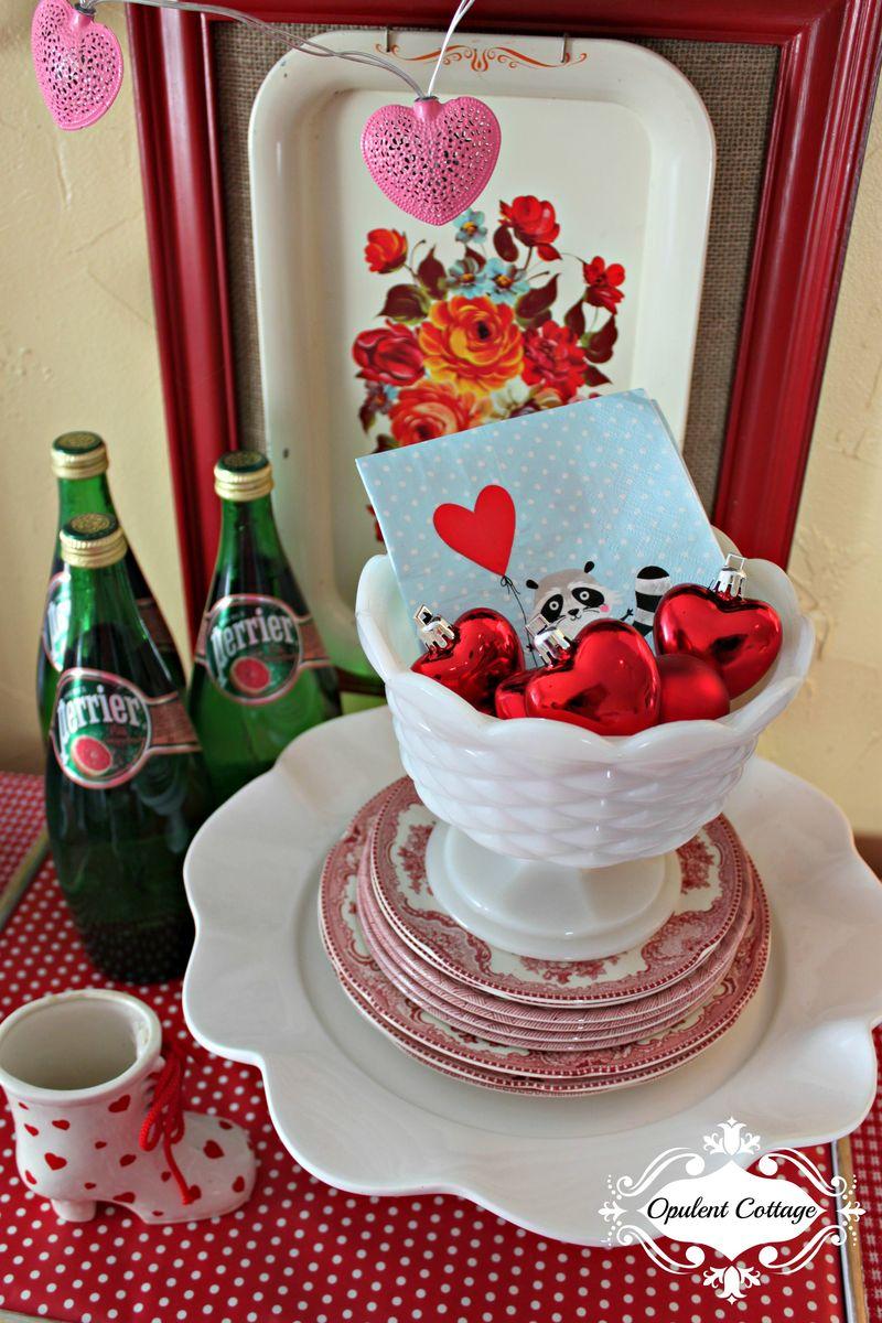 Opulent Cottage Valentine Vignette