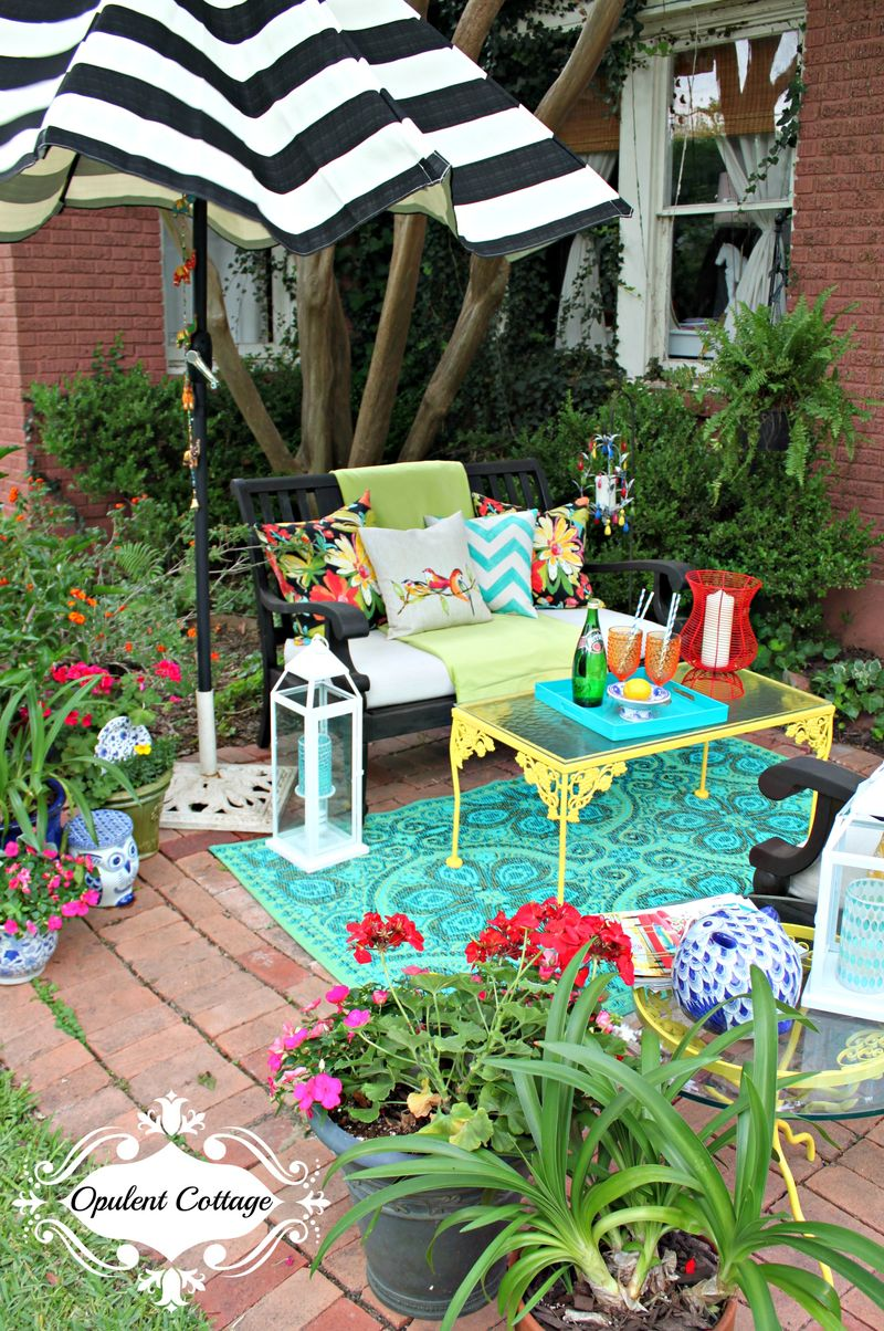 Opulent Cottage Patio Refresh for One Room Challenge