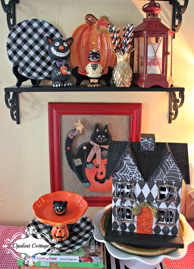 Opulent Cottage Halloween vignette