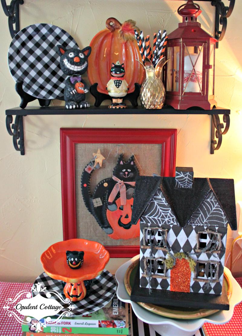 Opulent Cottage Halloween vignette