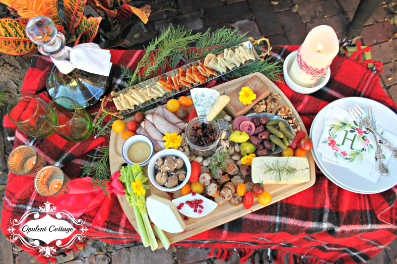 Opulent Cottage Holiday Charcuterie Board