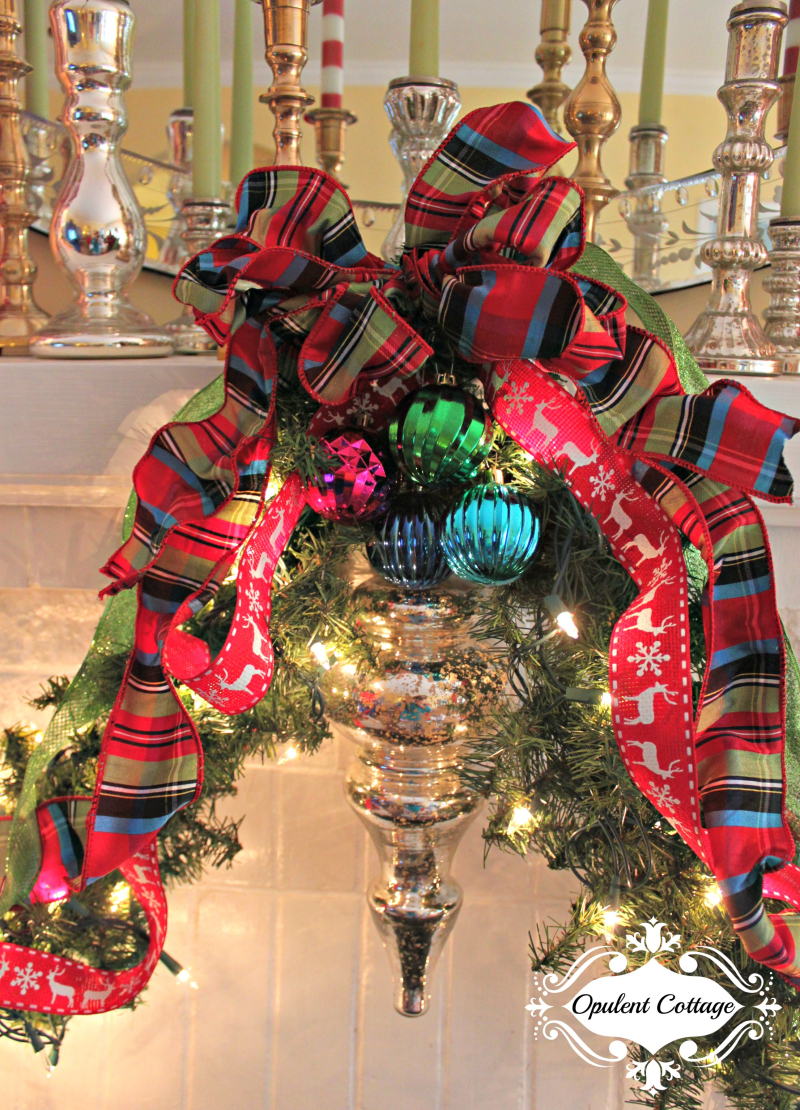 Opulent Cottage Christmas Mantel Ribbon 2016