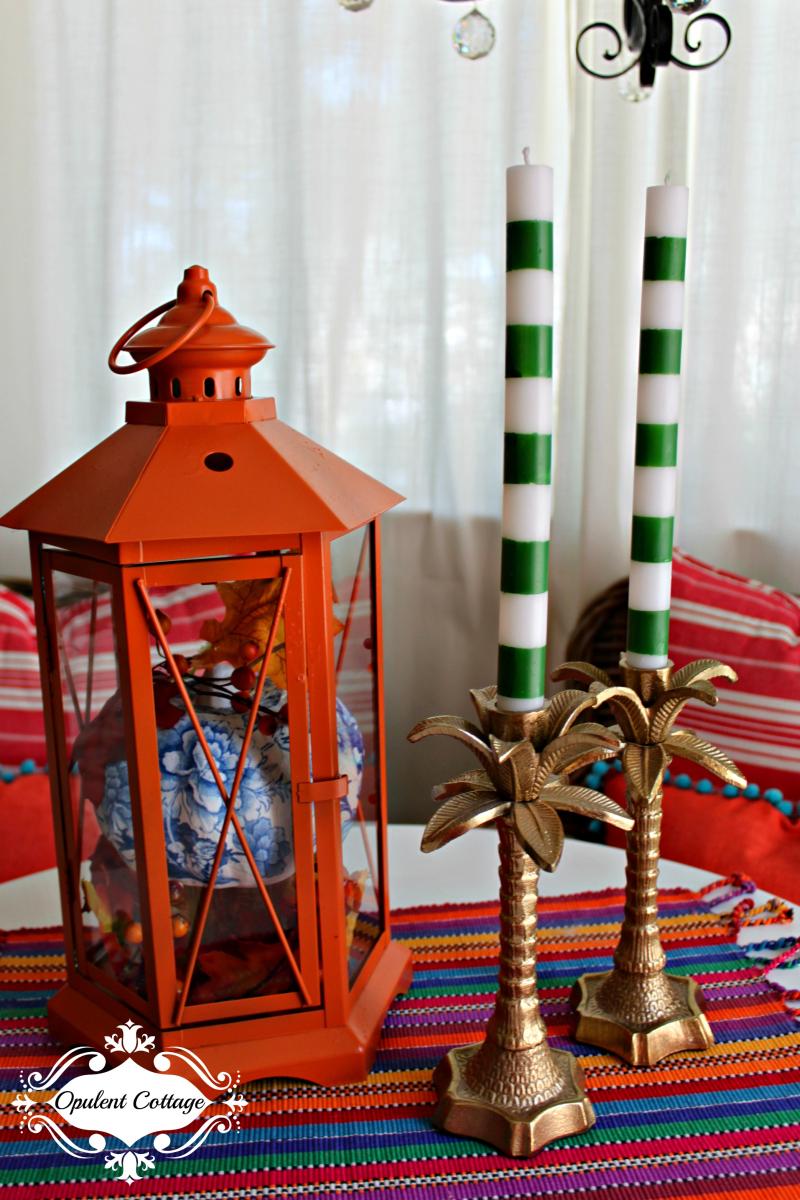 Opulent Cottage Fall Lantern