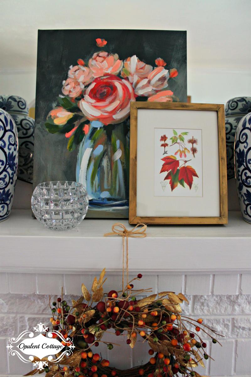 Opulent Cottage Fall Mantel Art