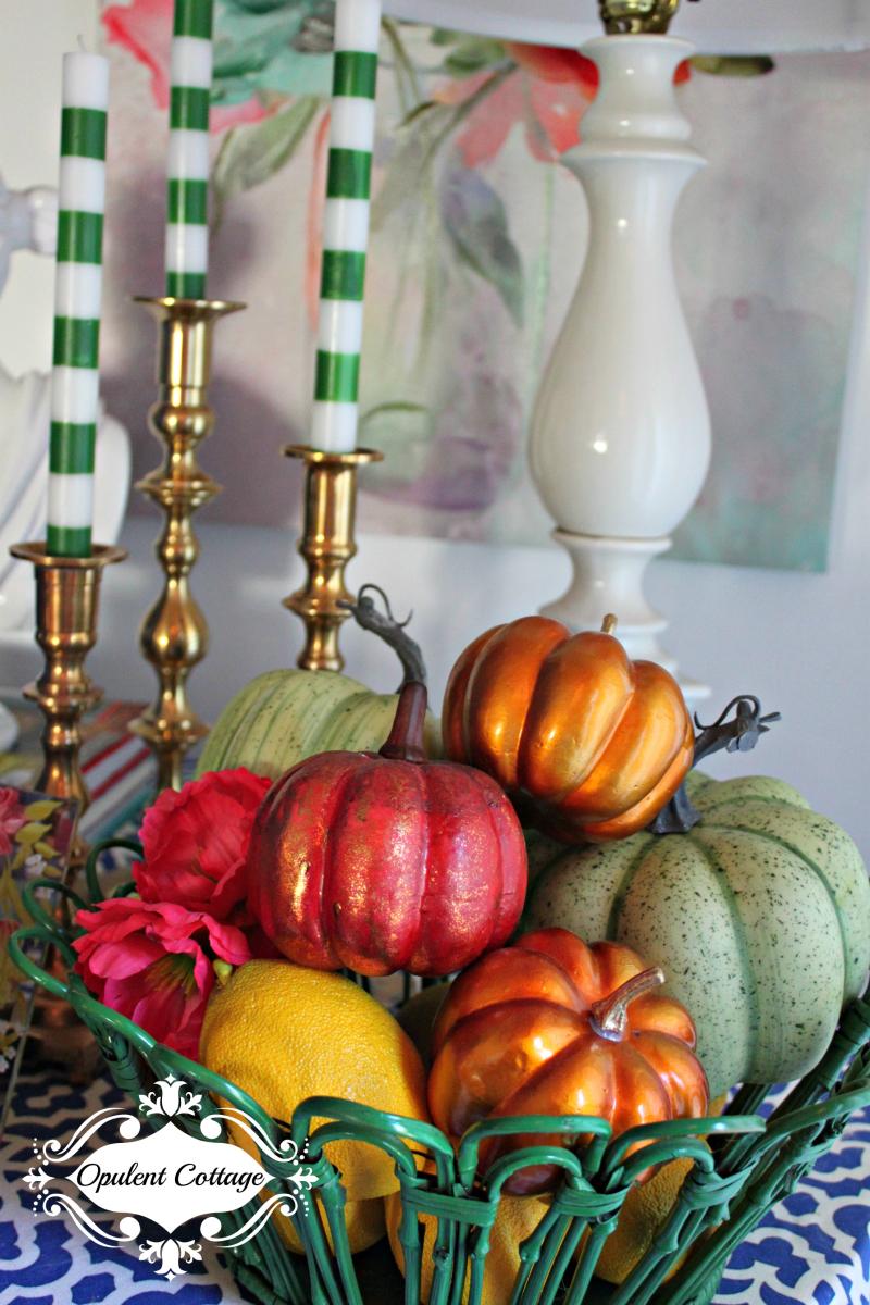 Opulent Cottage Fall Basket