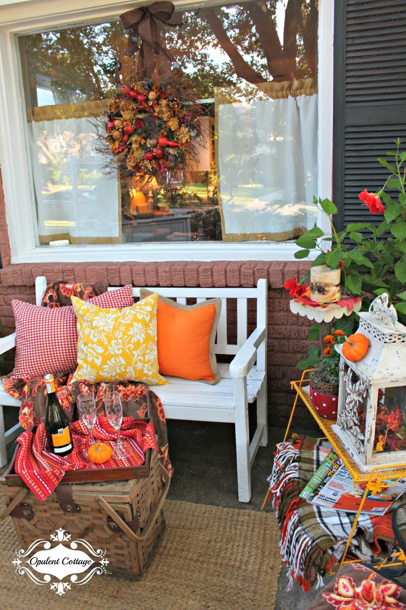 Opulent Cottage Cozy Colorful Front Porch